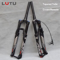 LUTU MTB Bike Suspension Fork 140mm Rebound Thru Axle Tapered Fork 26/27.5/29""