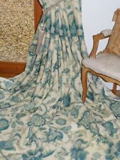 """NINA CAMPBELL Braulen CURTAINS Interlined LINEN Tree Of Life Ea 131""""W 113""""D 2OF2"""