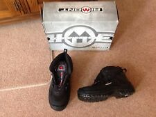 Aimont Steel Toe Capped Safety Boots - Style: Wing - Size 5 - Black