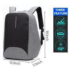 Mochila Anti Robo Impermeable Portatil Con Puerto USB Anti Arrugas Nomad Gris