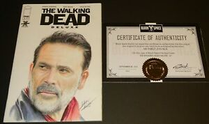 THE WALKING DEAD DELUXE #1 (2020.IMAGE) Jeffrey Dean Morgan. (Negan) SKETCH