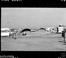 Camping Caravanes voitures moto  - négatif photo ancien 35mm an. 1970