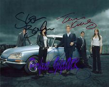 THE MENTALIST CASTX3 SIGNED 10X8 PP PHOTO SIMON BAKER, ROBIN TUNNEY  & TIM KANG