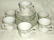"ETERNAL BEAU JOHNSON BROTHERS 6 TRIOS CUPS SAUCERS 6"" SIDE PLATES CHRISTMAS TEA"