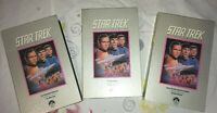 Vintage VHS Lot of 3 Star Trek Collector's Edition Video Tapes 1966 Episodes