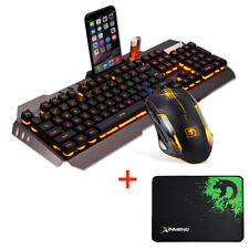 Uthink Molten Backlit V100 Ergonomic USB Gaming Keyboard 6 Buttons Gamer Mouse