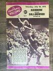 1975 VFL AFL football record Collingwood Magpies vs Richmond Tigers July 26 1975
