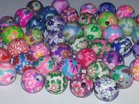 New 8MM Mixed Color Polymer Clay Handmade Beads Round Spacer Loose Beads 8MM