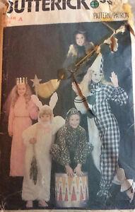 VTG 80s Butterick Child's Fancy Dress Pattern Includes Witch Rabbit Princess Etc