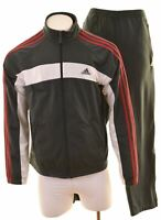 ADIDAS Mens Full Tracksuit UK 44 XL W36 L32 Grey Polyester Slim Fit  NS05
