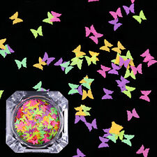 Fluorescent Glitter Nail Sequins Colorful Butterfly Flakes Paillette BORN PRETTY