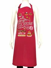 French Cooking Apron Chocolate Rose 100% Cotton For The Chef