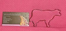 Cow,Brown Metal Cookie Cutter, 3 Inches,Coated Metal, Farm Animal,C/K,Pr1140Z