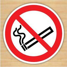 10-Pack No Smoking Sign Stickers 75mm Self-adhesive Vinyl car taxi bus dashboard