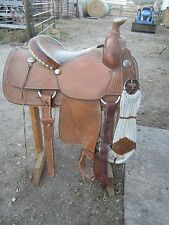 """Crates Saddle Mike Beers Roper Roping Saddle 15.5"""" Was $3600 New"""