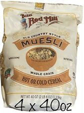 Bob's Red Mill Resealable Old Country Style Muesli Cereal, 40 Oz x 4 Packs
