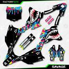 CMMK Savage Camo Racing Graphics Kit fits 14-21 Kawasaki KX85 Kx 85 Decal
