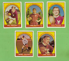 1968 SERIES 1 SCANLENS MANLY  WARRINGAH  RUGBY LEAGUE TEAM CARDS, ALL 5 CARDS