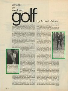 Golf by Arnold Palmer -Advice on Weekend Golf- 1966 Magazine Article - 8 Pgs
