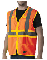 Walls Mens Orange Hi-Vis Reflective Vest Size 2XL NEW