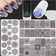 6Pcs/Set Floral Nail Art Stamp Plates Stamping Polish W/Stamper Scraper Kit DIY