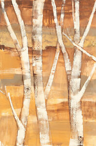 """Wandering through the Birches I 70"""" x 46"""" Canvas or Art Paper Print"""