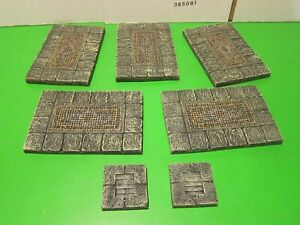 Dwarven Forge Dungeon Floor Pack A, painted, 7 pieces