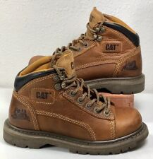 Caterpiller~Work Boots~Women's Size 6~Soft Toe~CAT Boots~Brown Leather~EXCELLENT