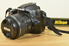 NIKON D3200 DSLR CAMERA KIT WITH NIKKOR LENS BATTERY CHARGER 8GB SD & BAG