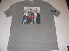 UNDER ARMOUR American Gothic Basketball & Pitchfork T-Shirt Shirt Mens LARGE