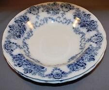"""2 Flow Blue Soup Bowls 9 1/2"""" diameter"""