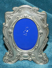 LOVELY VINTAGE DECORATIVE SILVER PICTURE PHOTO FRAME W/PATINA! UNIQUE!!