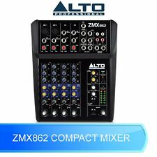 ALTO ZMX862 6 CHANNEL COMPACT PROFESSIONAL MIXING DESK FOR LIVE BAND OR STUDIO