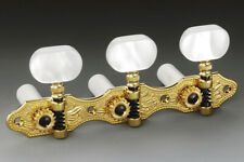 Genuine Schaller Germany Classical Guitar Hauser Tuners 3x3 Gold with Pearloid