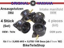4x Ansaugstutzen ORIGINAL YAMAHA / Intake Manifold f. XJ650 4K0 + XJ750 Seca 11M