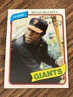 Vintage 1980 Topps #335 WILLIE McCOVEY San Francisco Giants 1B HOF RARE NrMt/Mt