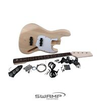 SWAMP DIY Build Your Own Electric Jazz Bass Guitar Kit Basswood Body Maple Neck