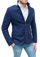 Elegante giacca blazer uomo Diamond casual blu slim fit aderente da S a XXL