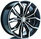 Four (4) 18x8 RTX Black Widow ET 42 Black Machine 5x112 Wheels Rims