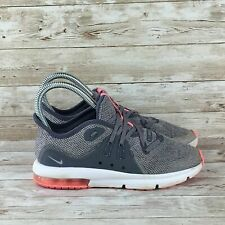 Nike Air Max Sequent 3 Girls Size 2Y Gray Pink Athletic Training Running Shoes