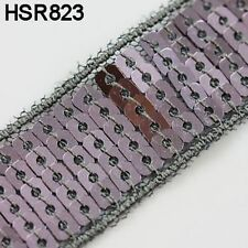 1 METRE SEQUIN TRIM RIBBON CRAFT SEWING CAKE DECORATING SEW  *9 COLOURS* 22mm