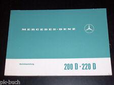 Betriebsanleitung Mercedes Diesel / 8 200 D / 220 D Stand 1969