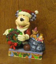 "Jim Shore Disney #4016565 MICKEY ""Merry Christmas To You"", NIB From Retail Shop"