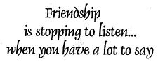 Mounted Rubber Stamps, Friendship Saying, Friends, Sayings & Quotes, Sentiments