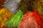 Fine Black Barred Marabou Feathers by Spirit River