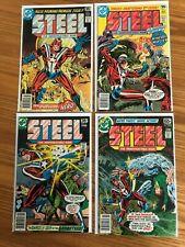 Steel The Industructable Man #1, 2, 4, & 5 (DC Comics - 1978) VF