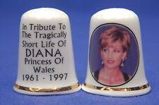 Diana Princess of Wales Tribute 1961-1997 Evening Dress China Thimbles  B/51