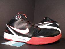 2009 Nike Zoom KOBE IV 4 BLACK WHITE VARSITY RED BRED 344335-012 12