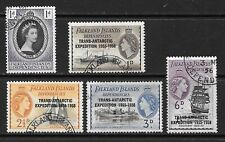 1956 Queen Elizabeth SG G41 to SG G44 & SG G25 Fine Used Falkland Dependencies