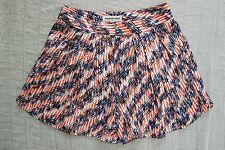 COUNTRY ROAD orange blue white geometric print high waisted shorts size 4 NWOT